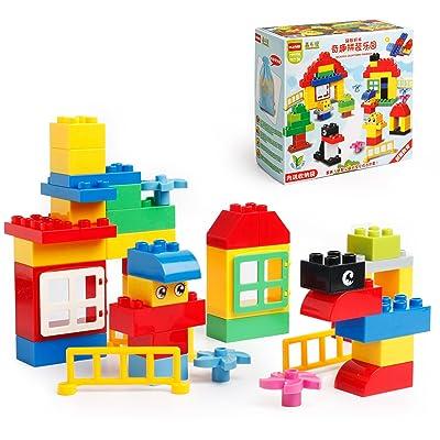 Katara 1755 Set Briques Compatibles Avec Lego Duplo, Hubelino, Papimax, Unico Plus, Jeu De Construction, Boîte De 100 Pièces