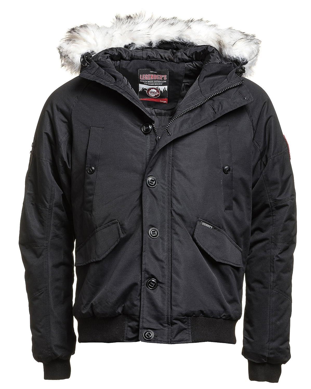 Legenders - Blouson Homme Hiver Noir col Fourrure - Couleur  Noir - Taille   L XL  Amazon.fr  Vêtements et accessoires ea4109549909