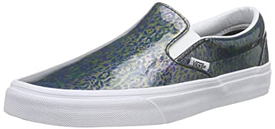 Vans Classic Slip-on, Unisex-Erwachsene Sneakers, Gold (Cracked Metallic/Gunmetal/True White), 40.5 EU