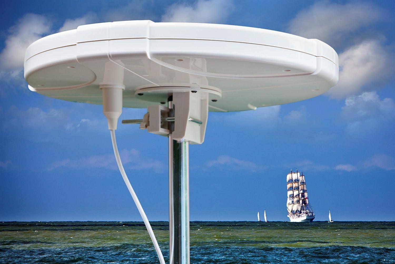 Omnidirektionale Digitale HD TV FM DAB Antenne mit Verst/ärker f/ür den Wohnmobil Wohnwagen Mobilheime Busse LKW Boote