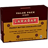 LÄRABAR Peanut Butter Chocolate Chip Fruit & Nut Bars 10 Count Box, 16 Ounce