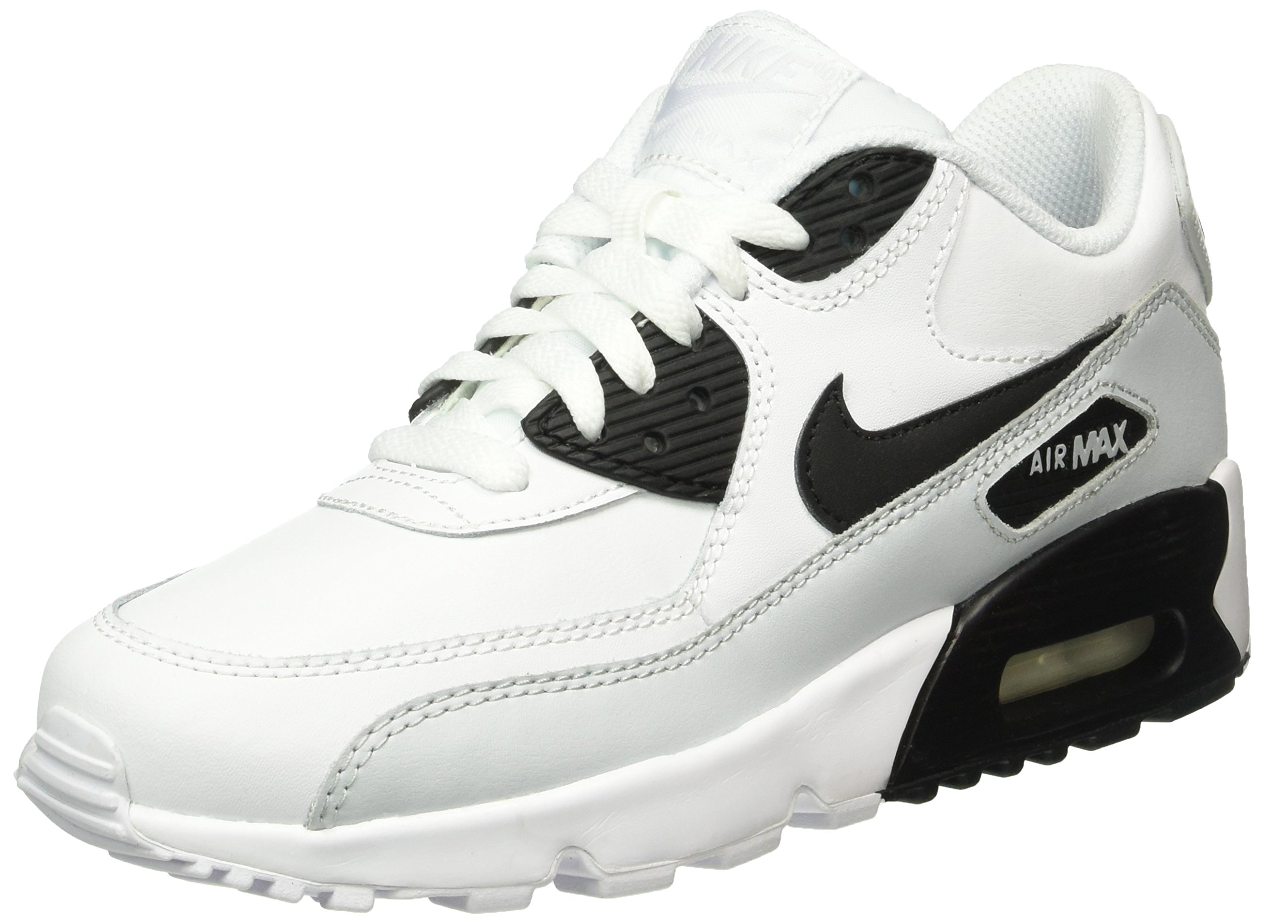 promo code cfbdd 8c78f Galleon - Nike Kids Air Max 90 Ltr (GS) White Black Pr Platinum White  Running Shoe 6 Kids US