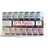 Dr. Ph. Martin's Radiant Concentrated Water Color Bottles, 0.5 oz, Set of 14 (Set A)