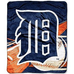 "Officially Licensed MLB Big Stick Raschel Throw Blanket, Bedding, Soft & Cozy, Washable, 50"" x 60"""