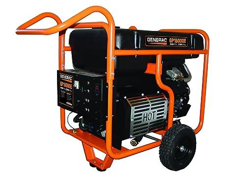 generac 5734 gp15000e 15000 running watts 22500 starting watts electric start gas powered portable generator Ultra Source 15000 Generac Portable Generator Wiring Diagram