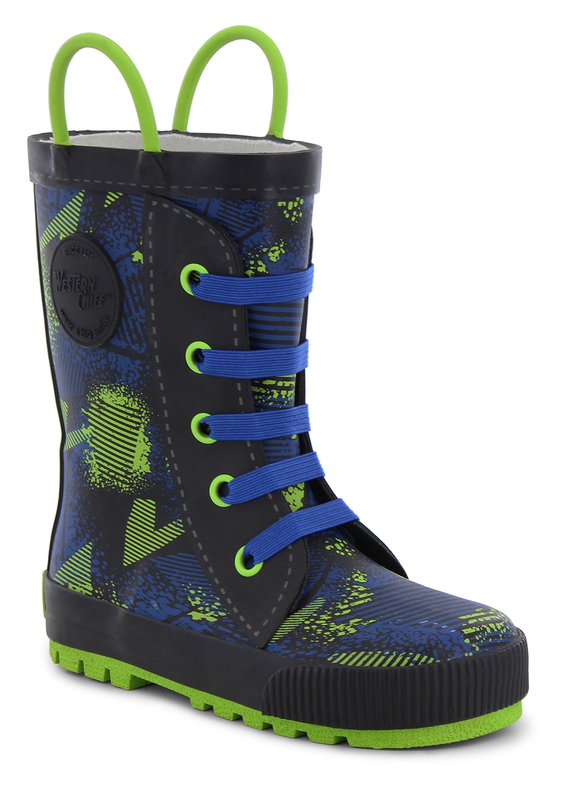 Western Chief Kids Ollie Sneaker Boot Royal Blue 8