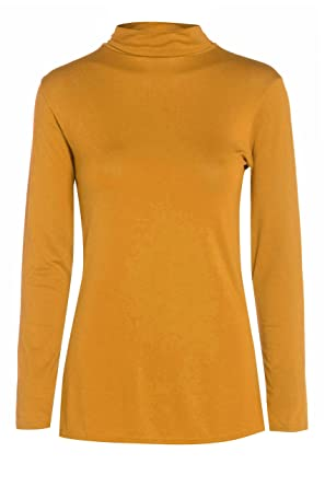 3a1c301b8e7 Image Unavailable. Image not available for. Colour  Fashion Valley Womens  Plain Long Sleeve Turtle Polo Neck Top Ladies Roll Neck Top Jumper 8