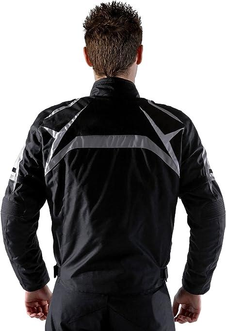 lemoko Tessile Giacca da Moto Nero o Bianco e Nero taglie S-3/X L