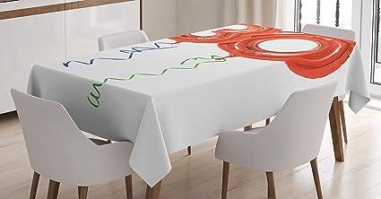 30th Birthday Decorazioni Tovaglia By Ambesonne 30 Anni Di Compleanno A Tema Decorativo Font Elementi Floreali