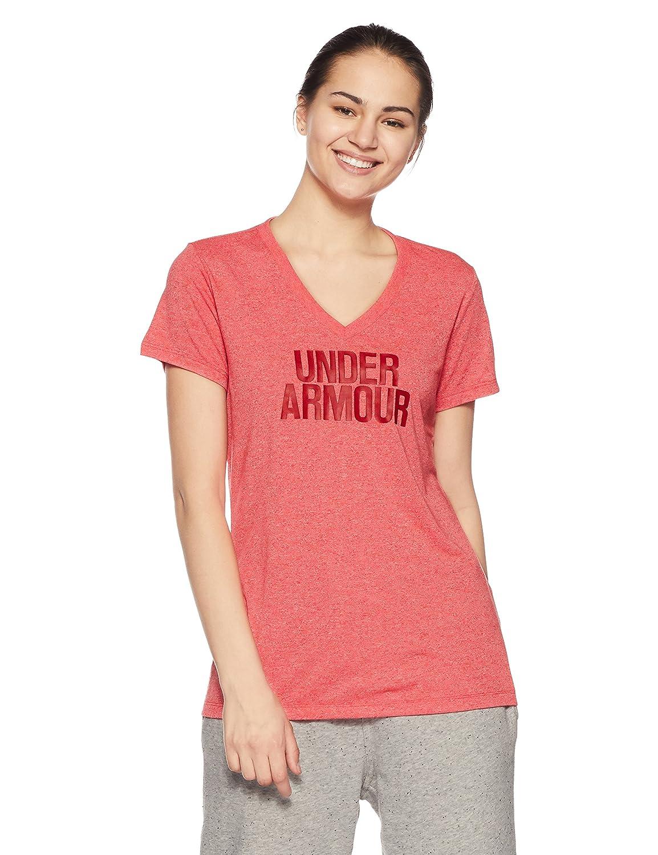 Twist Shirt Under Armour Womens Threadborne Train Wordmark V-Neck