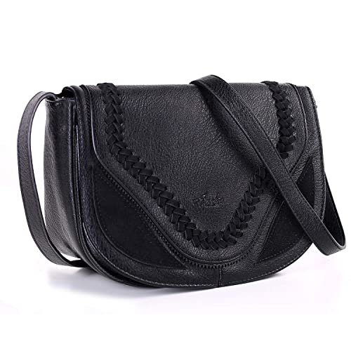 41ee846bfa65 Women Small Crossbody Satchel Bag Saddle Purse and Tote Shoulder Handbags  with Hand-made Cover