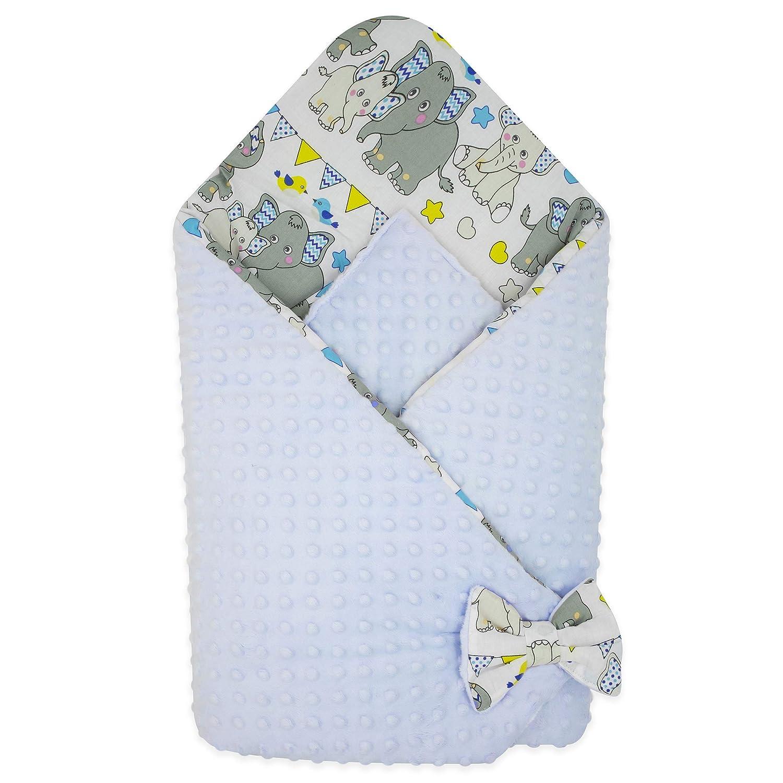 Fleecedecke BlueberryShop Minky Wickeldecke zum Auto Creme Doppelseitiger Schlafsack f/ür Neugeborene von 0 bis 3 Monaten 78 x 78 cm Perfekt als Geschenk f/ür Baby Shower