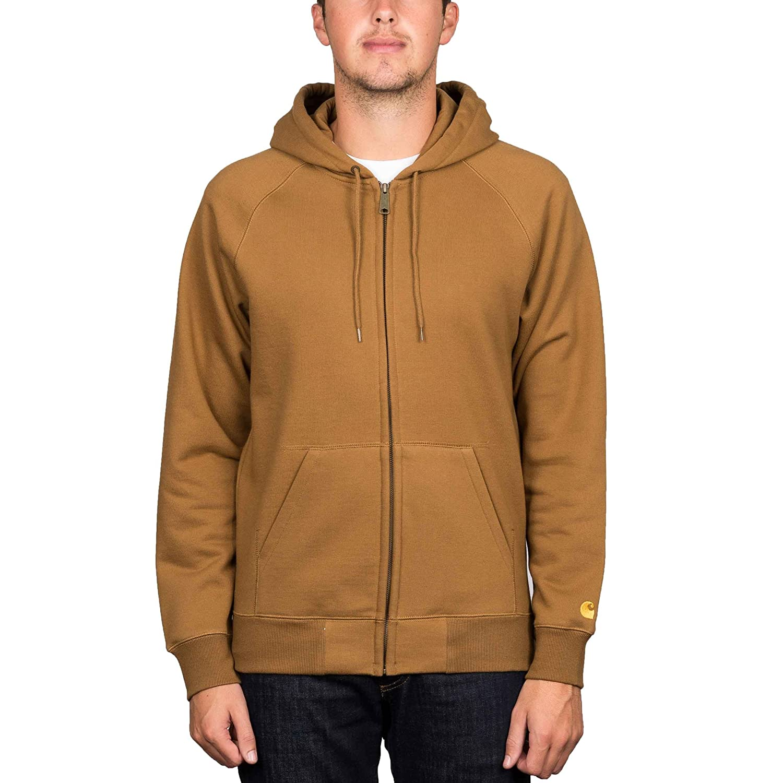 2171741e5f Carhartt  Chase  Zip Hood. Hamilton Brown Gold.  Amazon.co.uk  Clothing