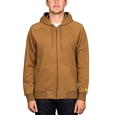 ecd4137d7a Image Unavailable. Image not available for. Colour  Carhartt  Chase  Zip  Hood. Hamilton Brown Gold.