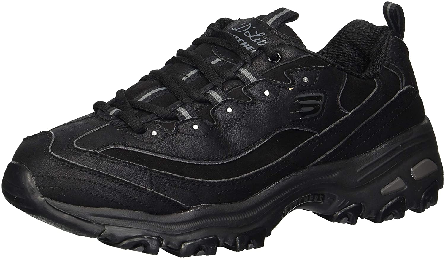 Skechers B06XJ3YMC8 D Lites-New School, Baskets Skechers Femme 19998 Noir aa3bca0 - tbfe.space
