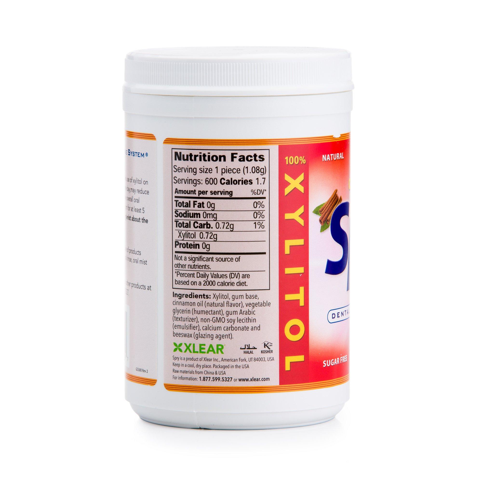 Xlear Spry 600ct Xylitol Gum 3-PACK SAVINGS!!! (Cinnamon, Fresh Fruit, Spearmint) by Xlear (Image #4)