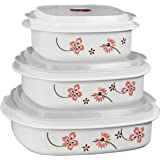 Reston Lloyd 的 Corelle Coordinates 6 件式微波炉炊具、蒸锅和储物箱 白色 6 件套 20238