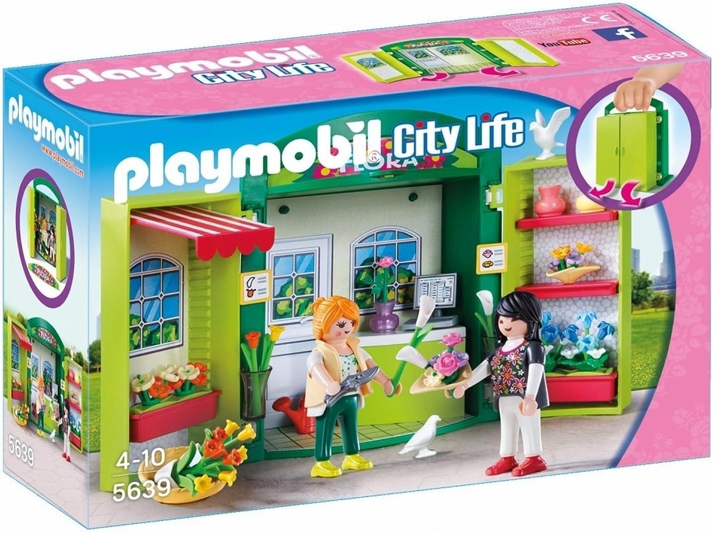 PLAYMOBIL- Cofre Tienda de Flores, única (5639): Amazon.es ...