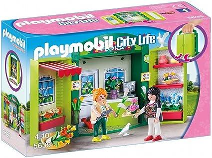 Playmobil- Cofre Tienda de Flores, única (5639)