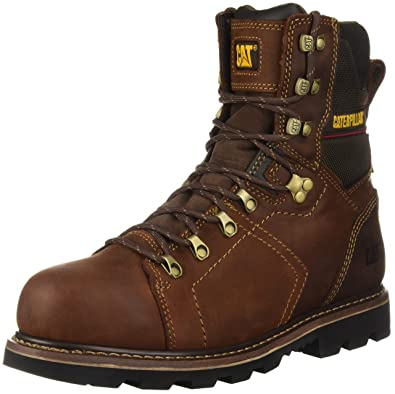"Caterpillar Mens Alaska 2.0 8"" Steel Toe Waterproof TX Construction Boot, Walnut, ..."