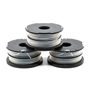"""Garden NINJA 0.065"""" Replacement Trimmer Spool Compatible with Black + Decker DF-065, fit Model GH700,GH710,GH750, 3-Pack"""