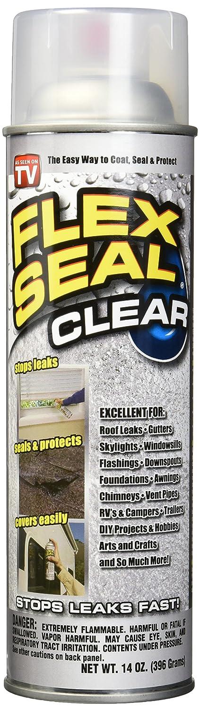 Flex Seal Spray Rubber Sealant Coating, 14-oz, Clear (2 Pack)