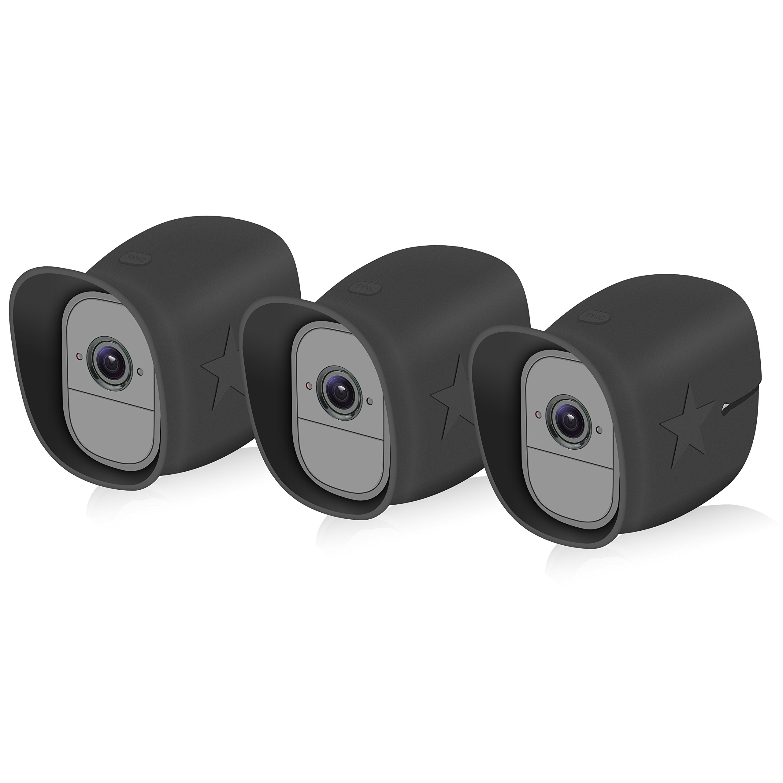 3 pack arlo pro pro 2 security camera silicone case. Black Bedroom Furniture Sets. Home Design Ideas