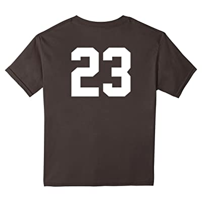 23 Sports Jersey Number on Back T-Shirt for Team Fan Player