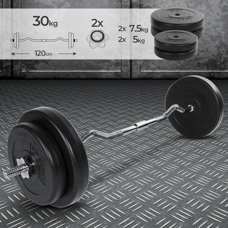 Hantelset 30 Kg Haltères Petites Haltères SET petites haltères musculation disques d/'haltères