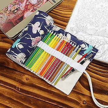 Amazon.com: lona colores lápiz Wrap 36/48/72 ranura, Asnlove ...