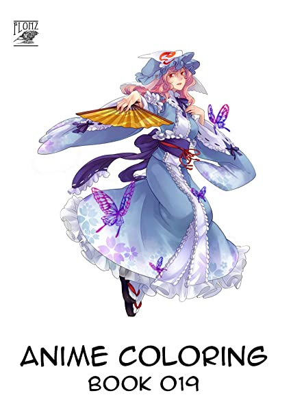 Amazon Com Anime Coloring Book 24 Pages 8 X11 Touhou Anime Girls