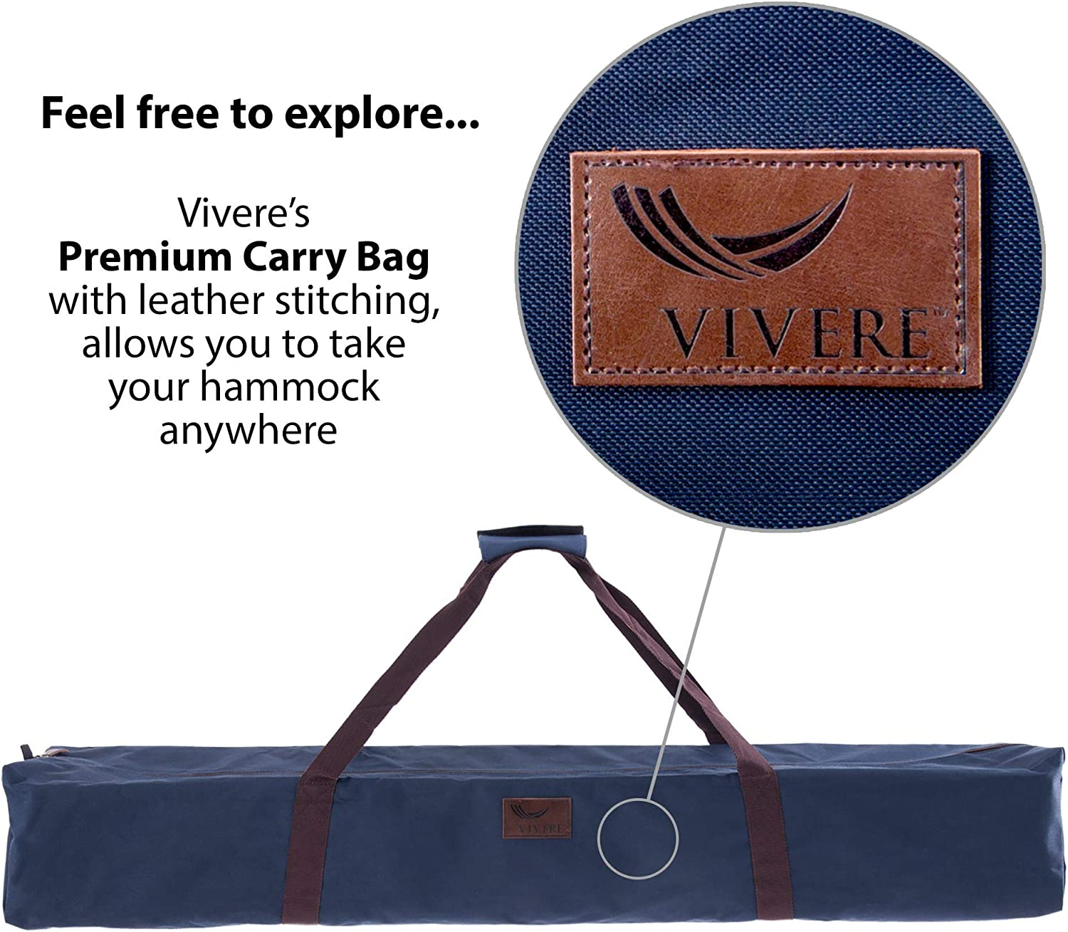 Vivere Double Polyester Hammock with Space-Saving Steel Stand Ciao
