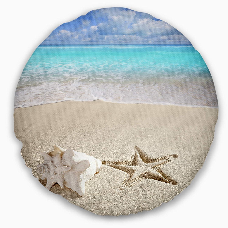 Designart CU8861-16-16-C Caribbean Starfish Beach Photography Throw Pillow 16
