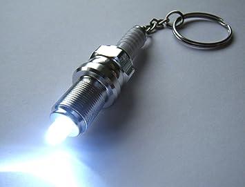 Gas Licht Nl : Chrom metall zündkerze schlüsselanhänger mit weißem led licht in