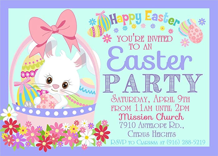 Easter Egg Hunt Invitations Easter Party Invitations