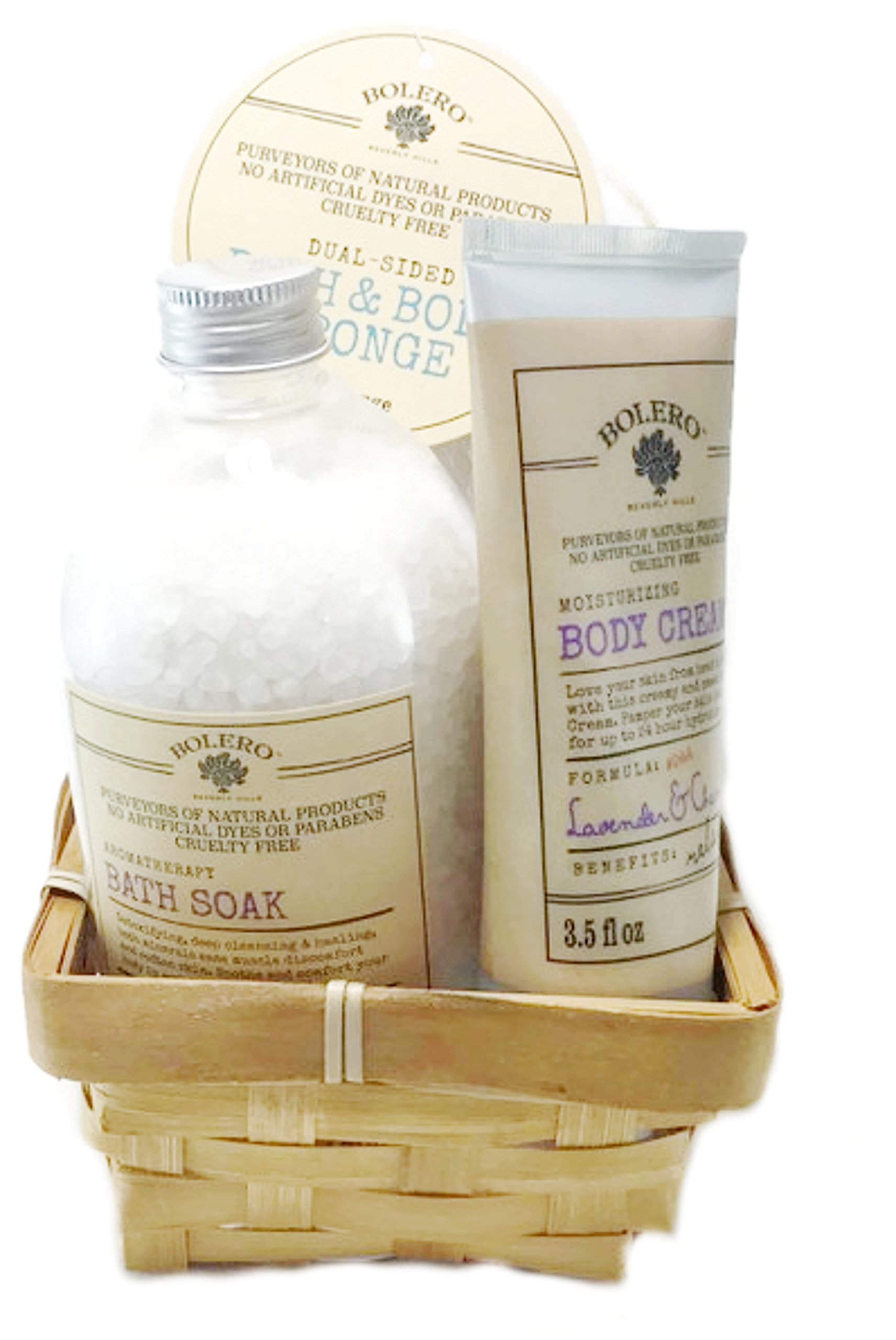 Bolero 3 Piece Relaxing Bath and Body Gift Set (Lavender and Chamomile)