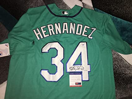 sale retailer 4df92 8acd9 Felix Hernandez Signed Seattle Mariners Jersey