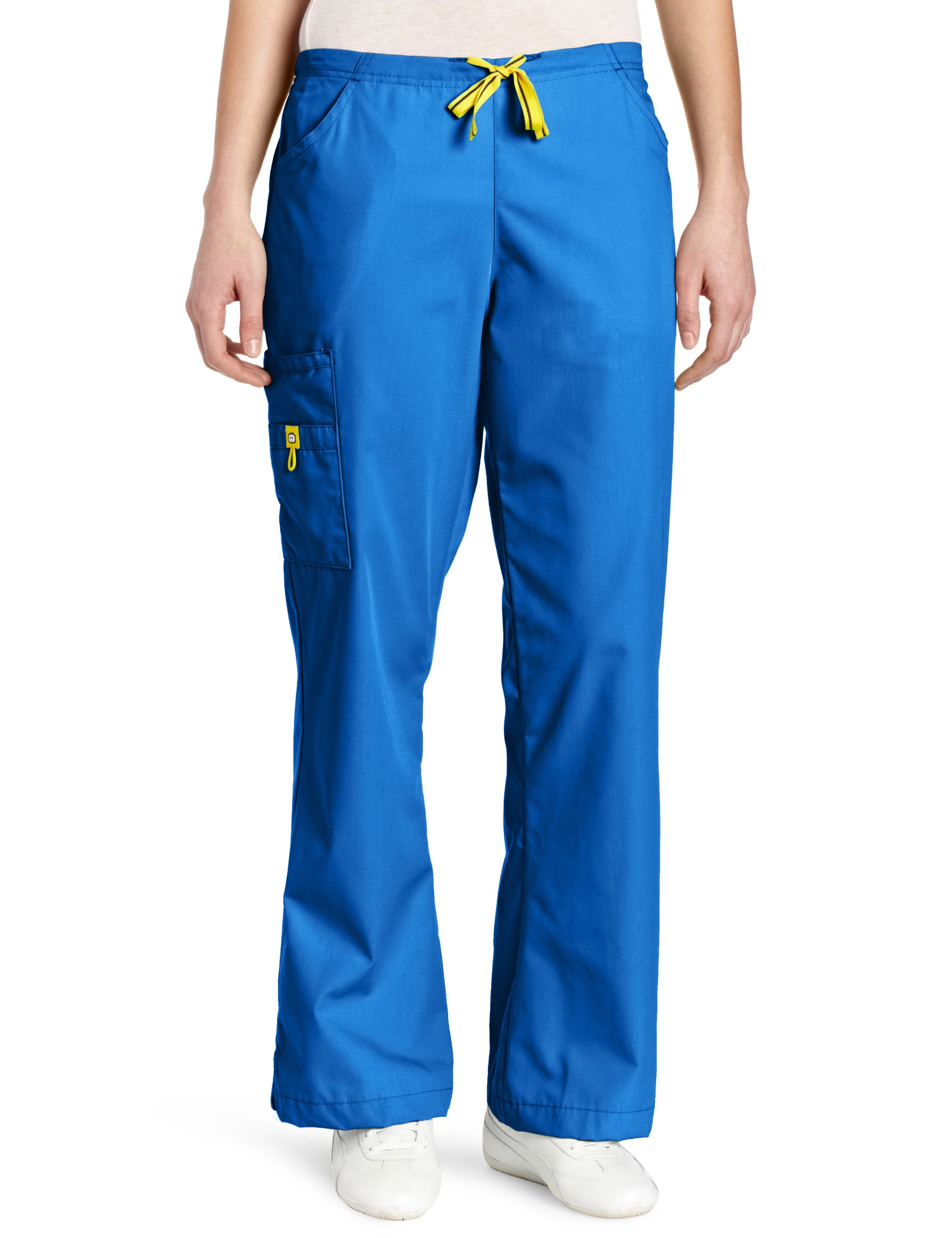 WonderWink Women's Scrubs Romeo 6 Pocket Flare Leg Pant, Royal, Medium
