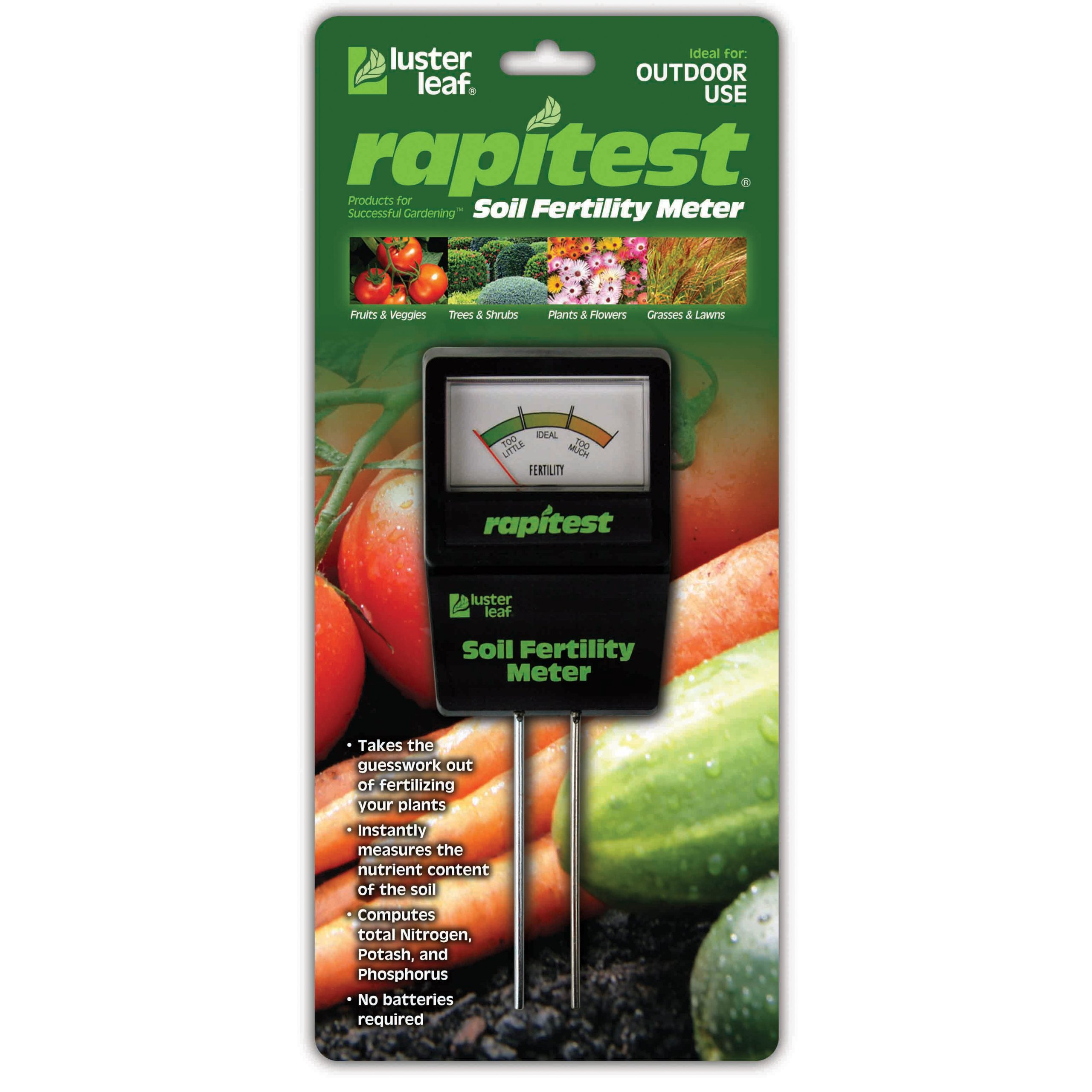 Luster Leaf 1865 Rapitest Soil Fertility Meter