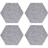 Navaris hexágonos de Fieltro Autoadhesivo - Set 4 Paneles Adhesivos 20x17x1.5CM para Pared - Decoración habitación…