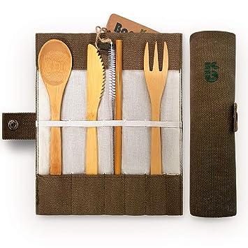 Bambaw Bambus Besteck Set Reisebesteck Umweltfreundliches
