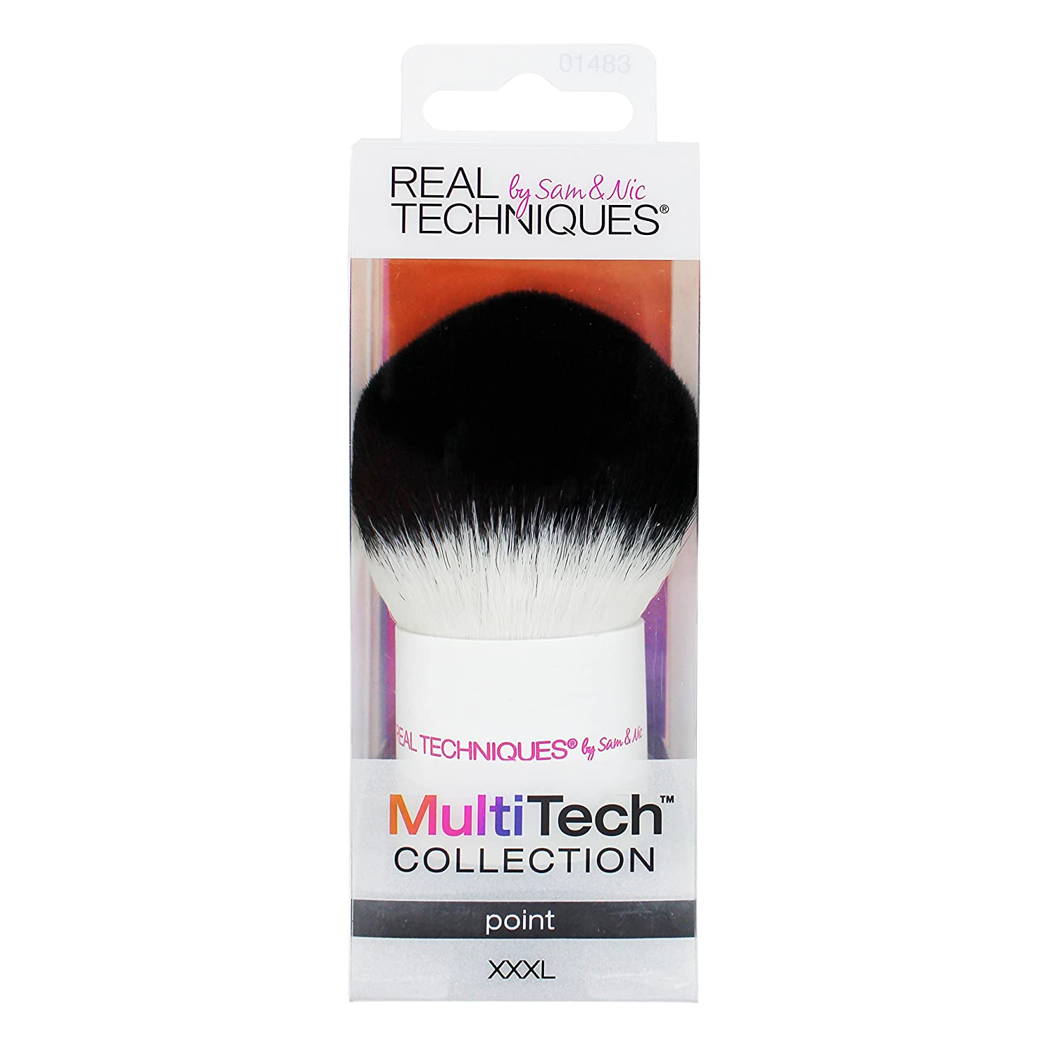 Real Techniques-MultiTech Point XXX-Large-Makeup Brush-For Application, Blending and Contouring of Liquid, Cream or Powder Makeup REAL TECHNIQUES MultiTech