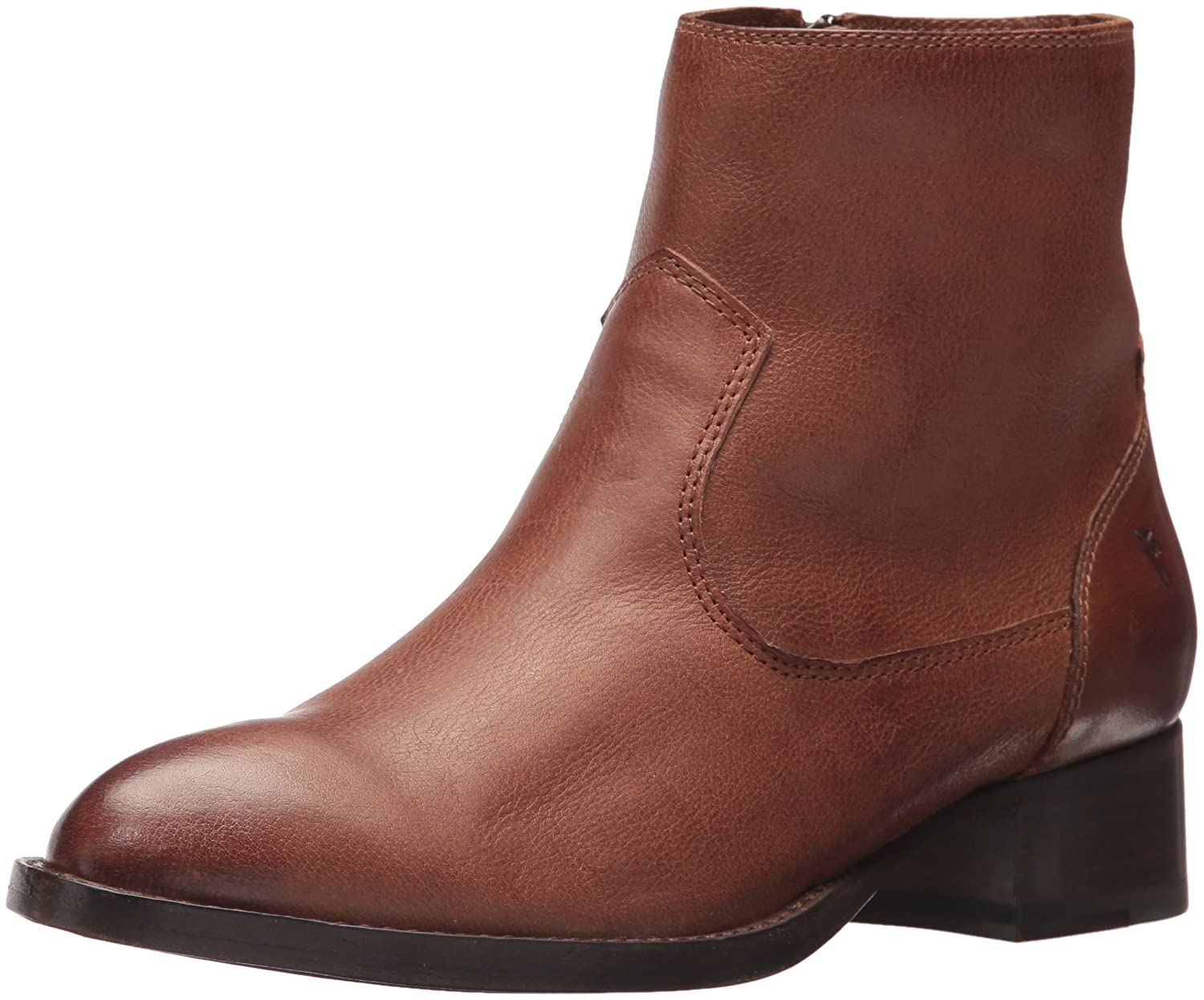 FRYE Women's Brooke Short Inside Zip Ankle Bootie B01MV2OSZU 8.5 B(M) US|Cognac