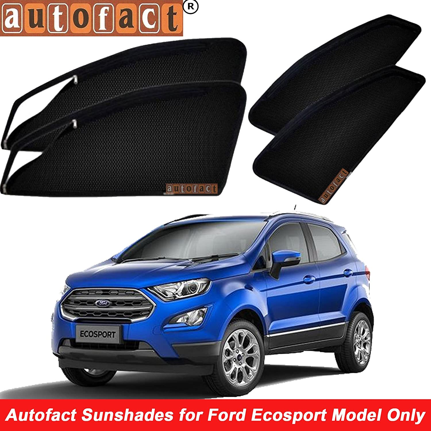 Autofact Magnetic Window Sunshades Curtains For Ford Ecosport Front