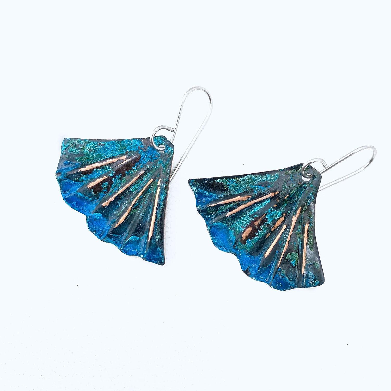 Patina copper earrings!