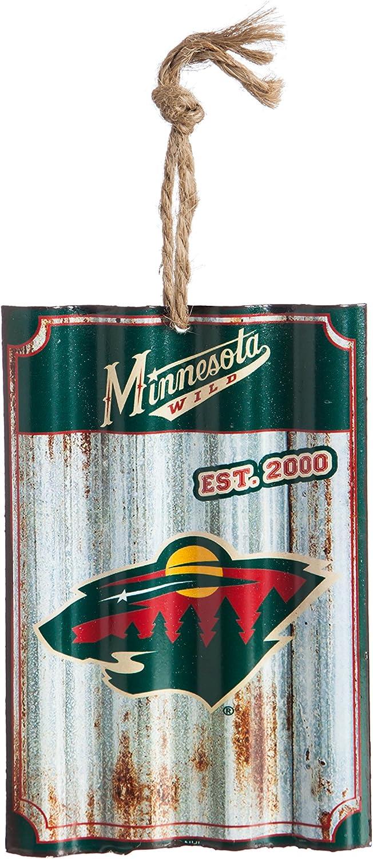 Team Sports America Minnesota Wild Corrugated Metal Ornament
