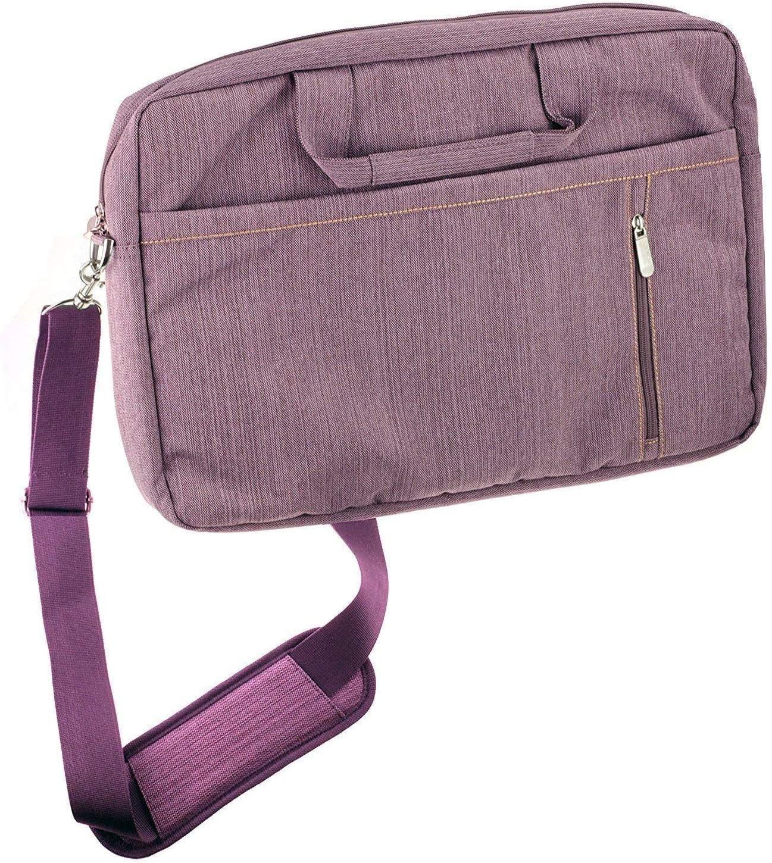 "Navitech Purple Premium Messenger/Carry Bag Compatible with The Jumper EZbook X3 13.3"" FHD Windows 10 Laptop"
