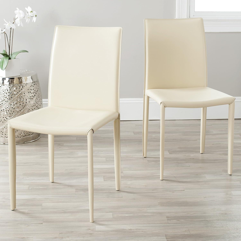 Safavieh Home Collection Karna Modern Cream Dining Chair (Set of 2)