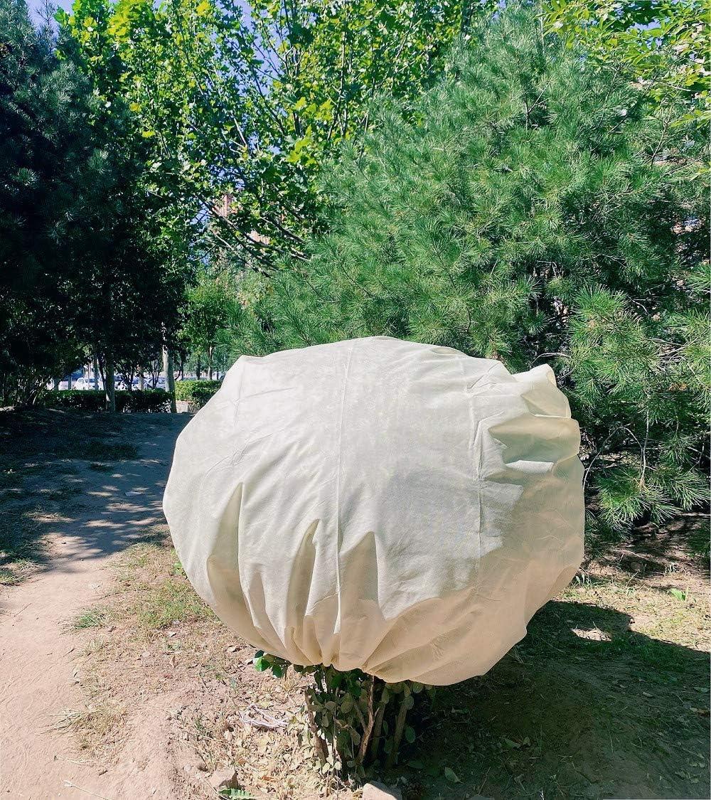 Leshi Shop Lot de 2 housses de protection contre le gel pour plantes de jardin en polaire pour plantes dhiver 80 cm x 100 cm 60 g//m/² Beige