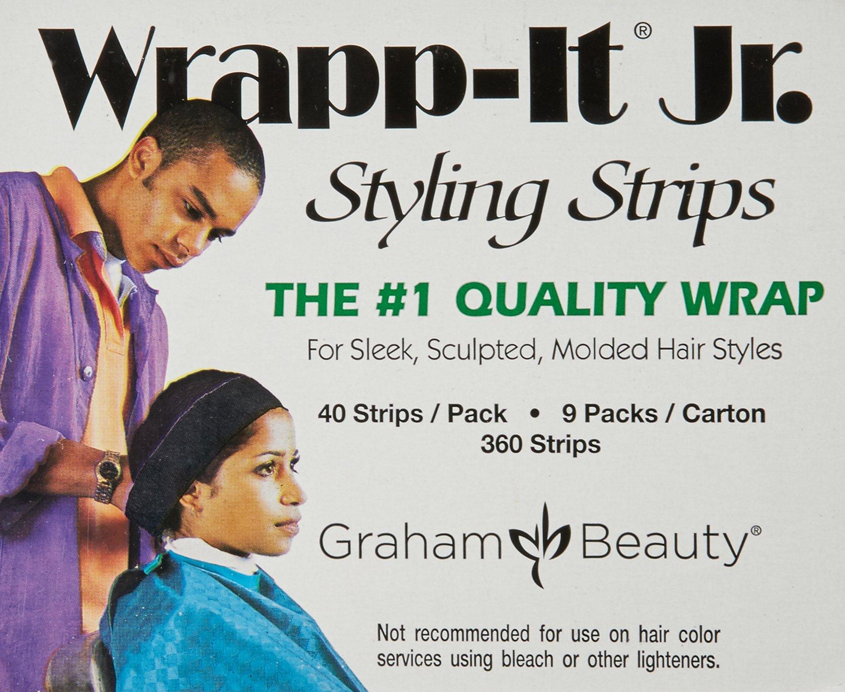 Graham Professional Beauty Wrapp-It Jr Styling Strips, Black by Graham Professional Beauty (Image #2)